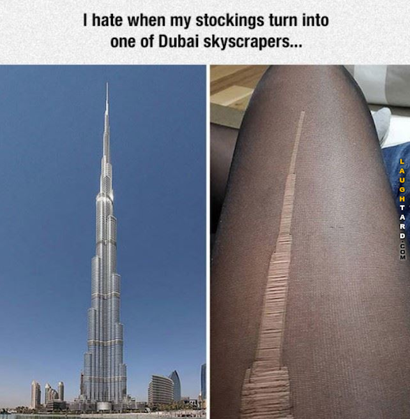 Ripped stocking meme