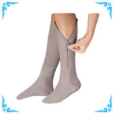 picture of compression socks with a zipper