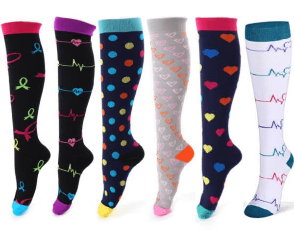 Variety of compression socks