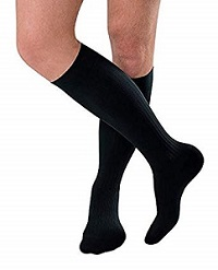 picture of black ribbed socks