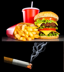 fatty foods and intoxication
