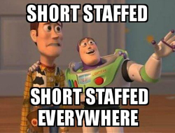 toy story funny meme about short staffed places