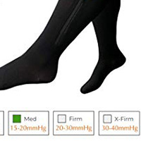 moderate support level Wide calves compression socks and compression stockings