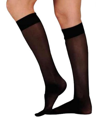 15 - 20 mmhg common black color compression stockings for people