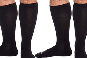 black 20 mmhg to 30 mmhg knee highs pressure hoses