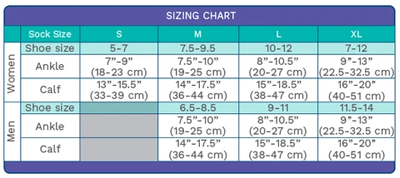 sizing and Measurement chart