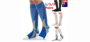 picture-of-different-pairs-of-compression-socks-with-different-colors