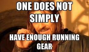 funny meme about running gear