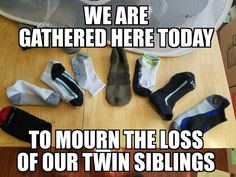 funny meme about single socks