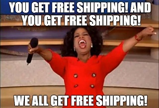 funny meme about free shipping for compression socks