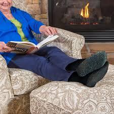 woman wearing socks in winters