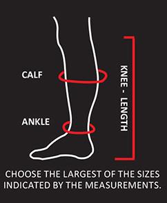 measurement chart for socks