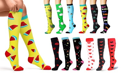 variety of knee high compression socks