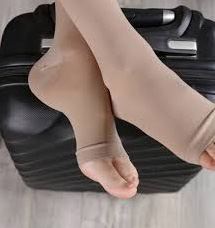 picture of a woman wearing compression socks