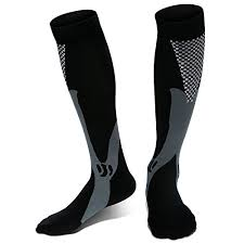 picture of a pair of aesthetic black compression socks
