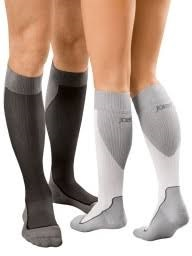 multicolored knee-high socks
