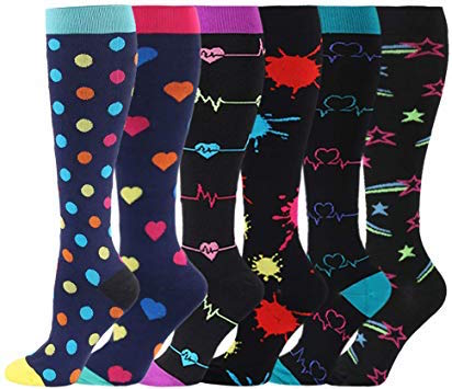Compression socks of funky patterns