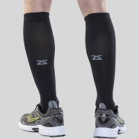 knee-high with sports shoes