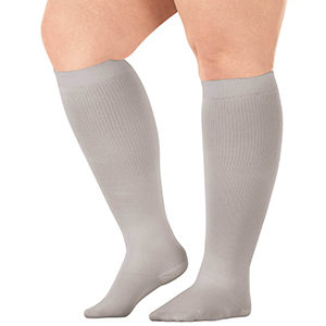 Compression socks come in different styles and sizes for the petite to the plus-sized.