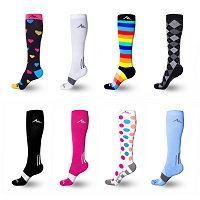 A picture of colorful maternity compression socks