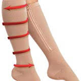 Ailaka 15-20 mmHg knee high zippered compression socks