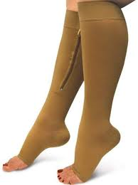 Aisprts 15-20 mmHg knee high zip compression stockings