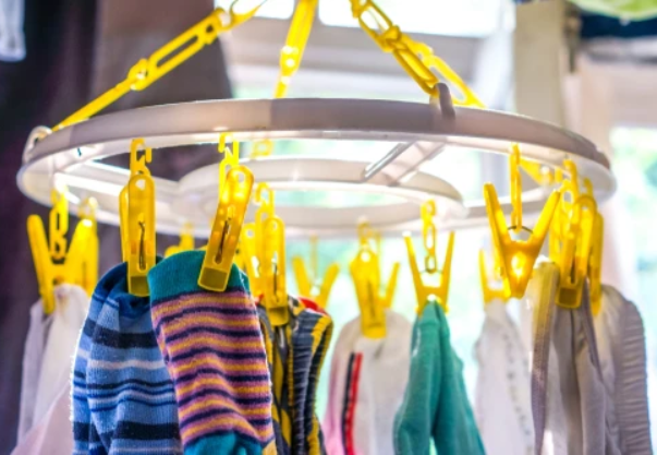 avoid drying them by hanging them on clothespins