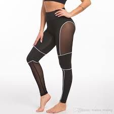 Breathable compression leggings with mesh
