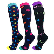 Colored Patterned Polka Crew Socks for Men and Women