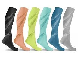 colorful knee-high compression socks