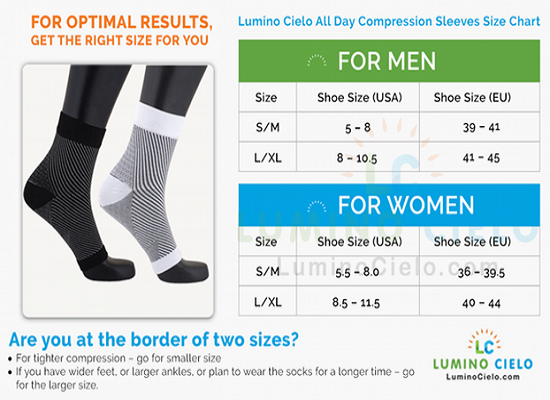 Compression Socks Size Variation For Men and Women