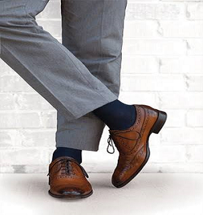 Compression Socks Worn Under Work Clothes