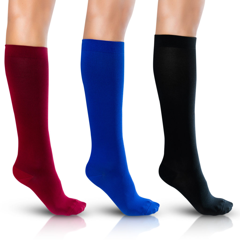Red, Blue and Black Compression Socks