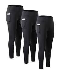 Compression leggings with side pocket
