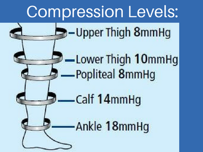 compression levels on a teds stocking