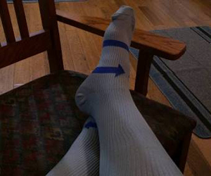 Compression socks can actually help in case of swollen ankles