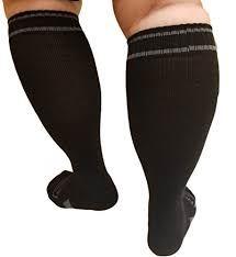 Large calf compression socks