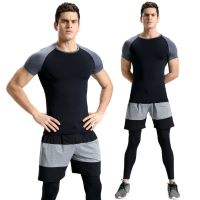 Compression wear, top, leggings and shorts