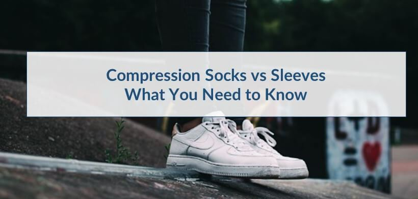 image showing comparison between Compressions Sleeves for Leg and Compression Socks