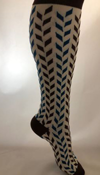 ComproGear - Savory Blue Chevrons Compression Socks (20 - 30 mmHG)