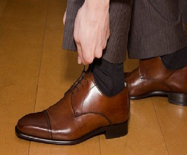 Corporate Man Looking Good Wearing Dress Socks