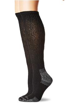 black compression socks with grey heels