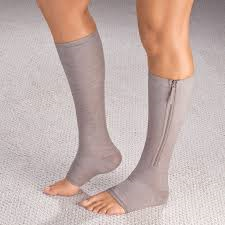 HealthyNees 15-20 mmHg knee high zip compression stockings