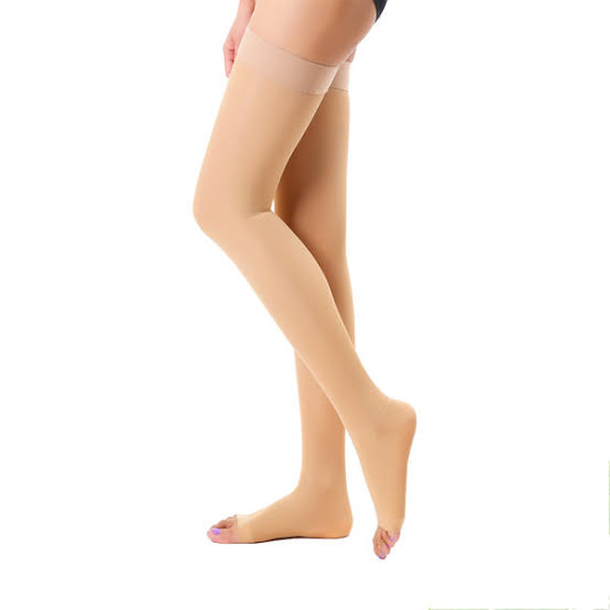 Thigh high compression stockings for women
