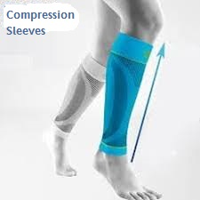 An illustration of how compression sleeves help push blood up