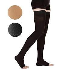 Mid-thigh compression socks