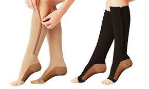 15-20 mmhg knee high zipper compression socks