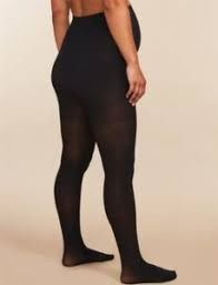 Pregnant woman in super plus size compression pantyhose