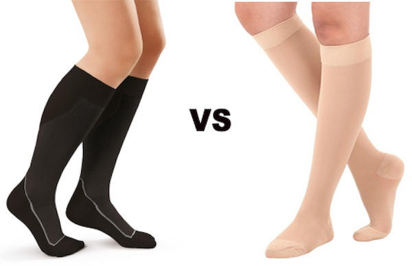 Compression socks versus Compression stockings