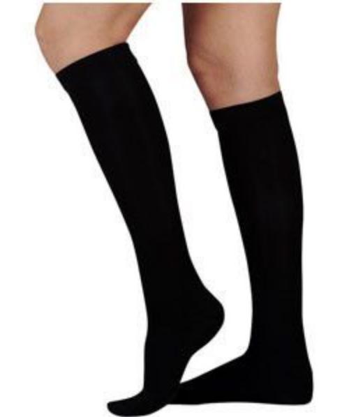 15 - 20 mmHg Black knee high circulation legwear